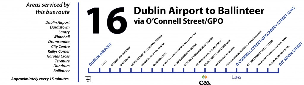 16 Bus Route in Dublin